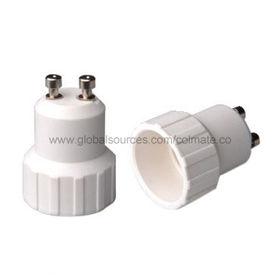 China GU10/E14 Adapters, PBT Plastic Part, Copper Contacting
