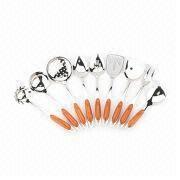 China 9pcs Kitchen Cooking Sets with Plastic Handle, Made of Stainless Steel,