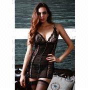 Hong Kong SAR Lingerie Costume, ODM/OEM Orders are Welcome, with Polyester and Spandex Materials