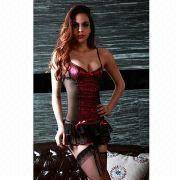 Hong Kong SAR Lingerie Costume, ODM/OEM Orders are Welcome, Made of Polyester and Spandex