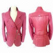 Ladies Fashionable Lamb Nappa Leather Jackets, OEM Services are Provided