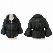 Ladies Fashionable Lamb Nappa Down Leather Jackets, OEM Services are Provided
