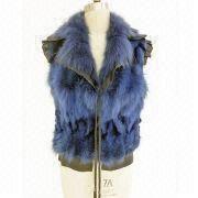 2012 Ladies fashion sheep leather vest