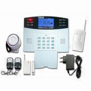 China Wireless GSM Home Alarm System with LCD Display, Voice Indicator and 2-way Communication