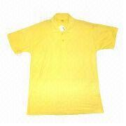China Plain Polo Shirt for Printing, 100% Cotton Pique Fabric, Customized Logos and Designs are Accepted