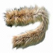 Raccoon fur scarf, customized designs are accepted