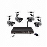 Wireless DVR Kit with H.264, D1, 3ch Wired Signal, 4ch Wireless Signal, PnP