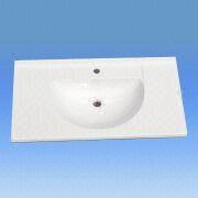 China Acrylic Bathroom Sink Measures 900 X 470mm With High Glossy Features