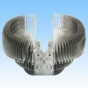 China Heatsink, Made of Aluminum, with Wire Drawing Surface Treatment, Processed by Computer Gongs