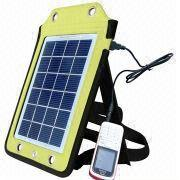 China Portable Solar Charger, Apply to Charging Outdoor, 6V/410mA Solar Panel Output