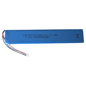 Lithium Polymer Battery Pack with 7.4V Voltage, 4,900mAh Capacity from Shenzhen BAK Technology Co. Ltd