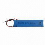 Li-polymer Battery Pack, 3.7V Voltage, Lead Out Two Wires from Shenzhen BAK Technology Co. Ltd