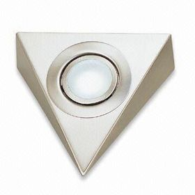 Surface-mounted Triangle Under-cabinet Light with On/off Switch and Stainless Steel Housing