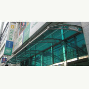 South Korea DIY Door Canopy without Any Joints, Uses 1 Whole Sheet of Polycarbonate Reaching Up to 30 Meters