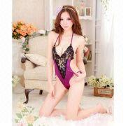 Hong Kong SAR Lingerie Costume, ODM/OEM Orders are Welcome, with Lace and Spandex Materials