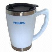 16oz New Design Double-wall Stainless Steel Inner/Plastic Outer Travel Mug from China (mainland)