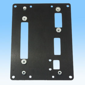 Stamped Metal Part, Made of Aluminum, Black Powder Injection and Assembling with Screws from HLC Metal Parts Ltd