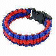 Bracelet with Double Color and 550 Paracord Survival Design