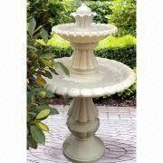 China Two Tier Fountain, Made Of Fiberglass, UL And CE Approved, Outdoor Using Traditional Styling