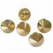 Fashionable gold clothing buttons from China (mainland)