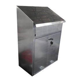 Wall-mounted Stainless Steel Mailbox, 360 x 240 x 550mm, Hair-lined Finish, Cylinder Lock, 2 Keys