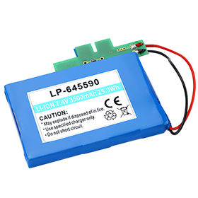Li-polymer Rechargeable Battery, 7.4V, 3,500mAh with PCB and 10K NTC, Lead-out Wires from Shenzhen BAK Technology Co. Ltd