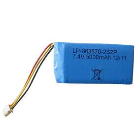 Li-polymer Rechargeable Battery, 7.4V, 5,000 to 5,200mAh from Shenzhen BAK Technology Co. Ltd