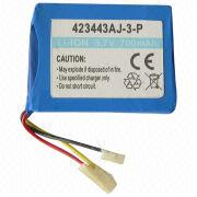 China Li-ion Rechargeable Battery, 3.7V Voltage, 700mAh Capacity
