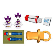 PVC Customized 2D and 3D USB Flash Drives