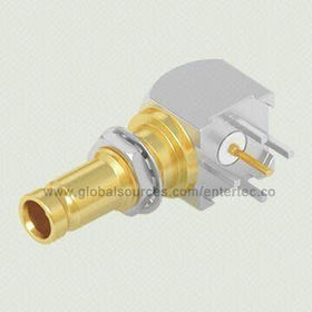 1.6/5.6 Connectors with Right Angle Female Jack Plug, PCB Mount for RF Coaxial Cable Assembly from EnterTec Technology Inc.