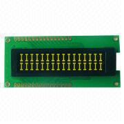OLED Display with 16 x 2 Characters, COG + PCB, Yellow