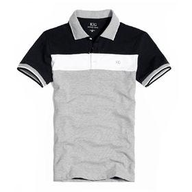 El polo 100% de los hombres de moda del algodón con el piqué del punto, los logotipos del cliente acogidos con satisfacción