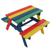 China Wooden children table chair