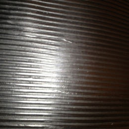 Fine ribbed rubber sheet/mat, used for flooring and non-slip