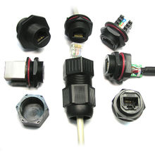 Waterproof IP67 Grade Connector Cable Side