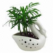 Ceramic Swan Pot, Home Decoration, Houseware, Swan Figurine Can be Candle Holder Also