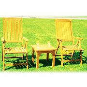 Teak Side Table and Recliner from Myanmar