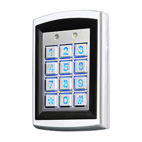 Standalone/Networked Access Control with 12V DC Output Voltage, Measures 120 x 76 x 22mm