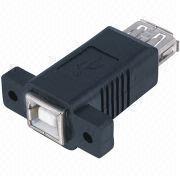 Panel Mount USB AF/BF Adapter, Molded Types