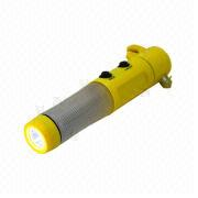 Hong Kong SAR Emergency Safety Hammer with LED Flashlight, Widely Used for Automobile Parts