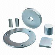 Round-shaped Magnet with Zinc-plated Surface