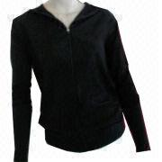 Women's polyester/elastane seamless sports jacket from China (mainland)