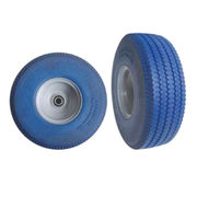 Blue PU Foam Heavy Truck Tires