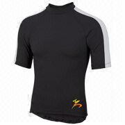 Polyester / Spandex Fabric Sports Usage Short Sleeve Men's Round-neck T-shirt Breathable Lightweight from China (mainland)