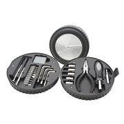 24pcs caja de herramientas plástica, gran equipo para uso general práctico, embalado en Neumático-formado