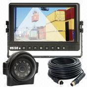 Car Rear View System with 9-inch TFT LCD Monitor, IP69K Waterproof CCD Rear Vision Camera