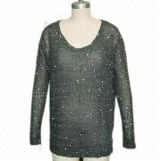 Ladies' knitted sweater from China (mainland)