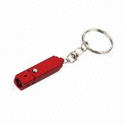Mini Promotional Keychain with LED in Aluminum Alloy Housing, Uses 3 x LR41 Batteries