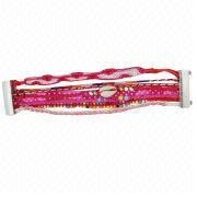 China Hand Braid Bracelet, Rope Weaving Bead Bracelet, Made of Plastic, Available in Many Colors/Styles
