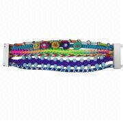 Hand Braid Bracelet, Rope Weaving Bead Bracelet, Made of Plastic, Available in Many Colors/Styles